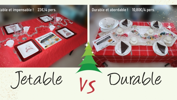 Comparatif : table durable - table jetable