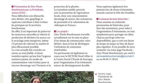 Zéro Waste Bourbonnais, interview d'Aurore Juge